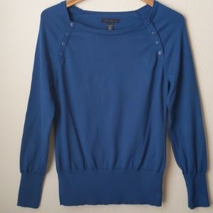 Kenneth Cole Knit Blue Boatneck Sweater, XL